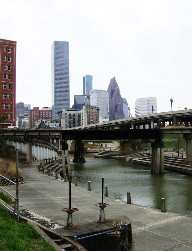 Downtown Houston from White Oak Bayou 0207101531
