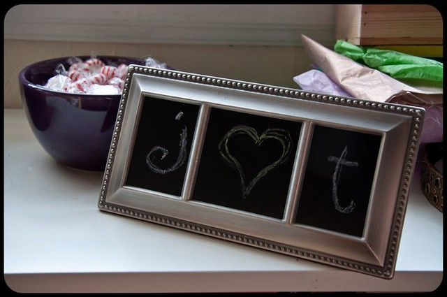 Recycled frame three window tiny chalkboard flickr for Recycled window frames