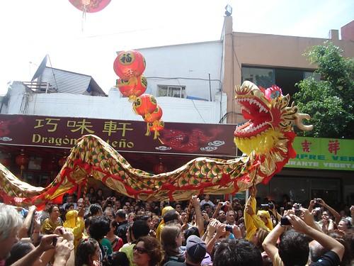 Danza del dragón y el león