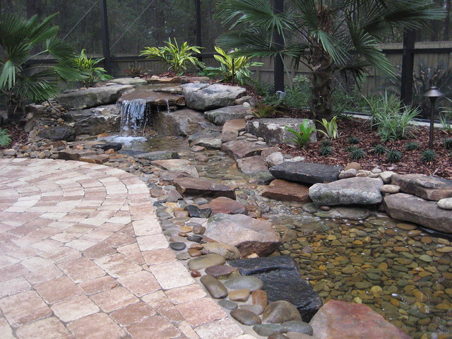 how to build a pondless waterfall and stream