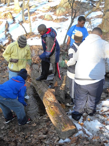 St. Ignatius boys testing water quality on WV trip
