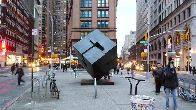 Astor Place Cube Alamo Sculpture in Manhattan