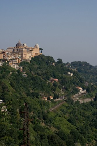 View of the Vatican Observatory and Papal Palace in Castel Gandolfo, Italy
