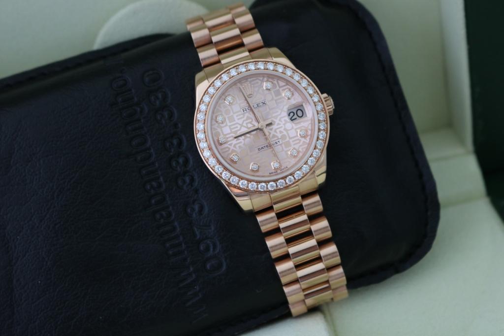 Đồng hồ rolex datejust 6 số 178275 – Mặt vi tính xoàn – Vàng hồng 18k – Size 31mm