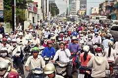 Traffic Jam in Saigon (Ho Chi Minh)