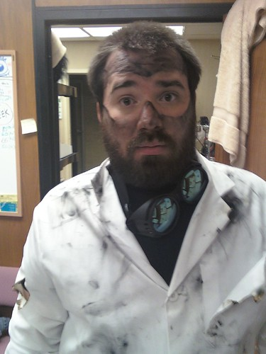 Post-Explosion Mad Scientist Costume