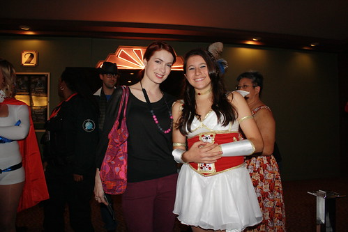 Felicia & a fan dressed as Codex at the Dr. Horrible / The Guild screening