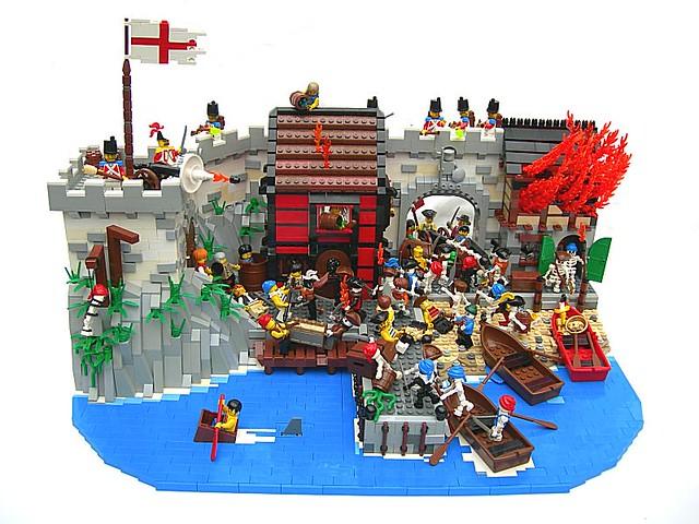 pillaging port royal - Lego Pirate