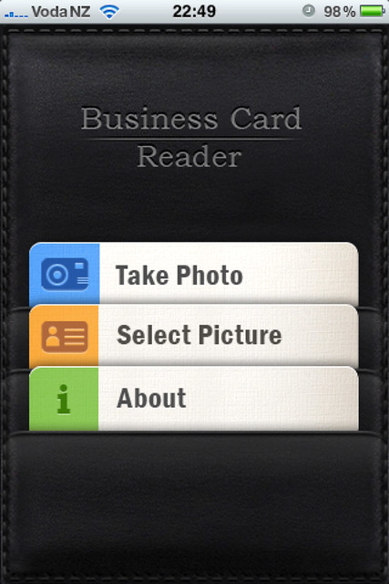 Business card reader flickr photo sharing for Small business card reader