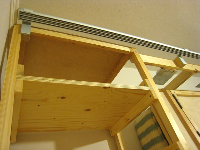 ikea 39 s kvartal system brackets and rail installed flickr photo sharing. Black Bedroom Furniture Sets. Home Design Ideas