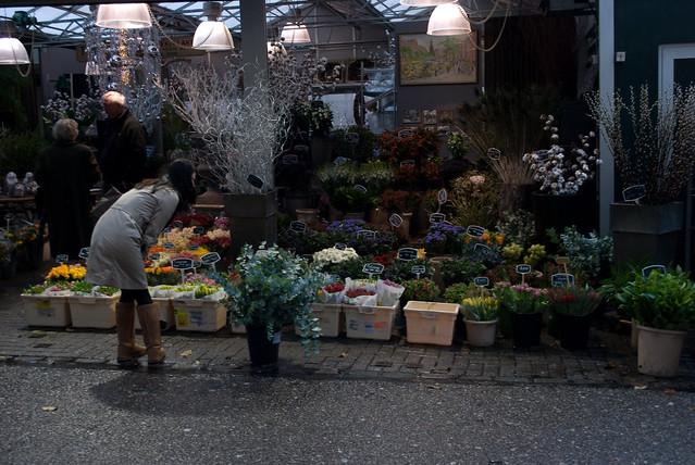 flower market, Amsterdam, Nov 2009