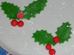 food, cake decorating, aquifoliales, holly,