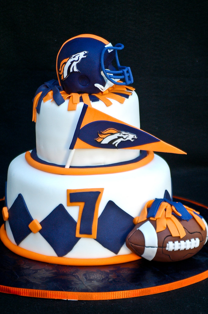 Football Broncos Cakes