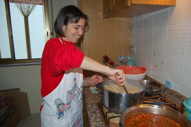 Rosetta Cooking the Primo Piatto