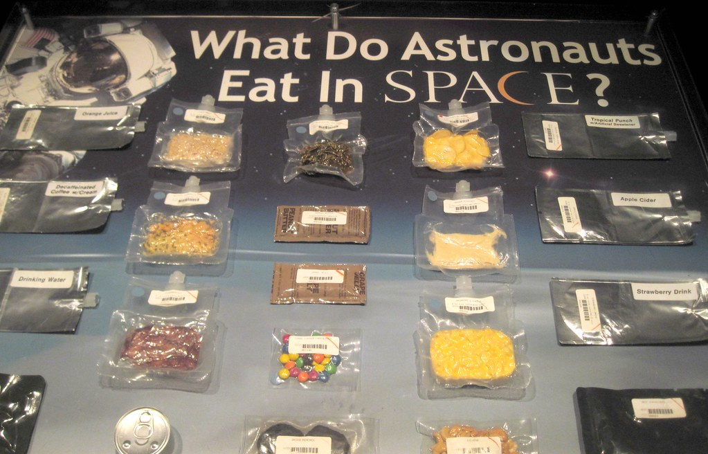 what do astronauts eat up in space -#main