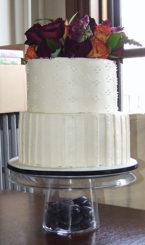 Beautifully Simple Wedding Cake done for my friends Chris and Kelly