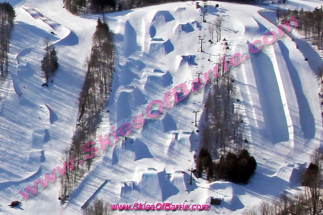 Mount St. Louis - Snow Boarders Paradise - Courtesy of: Skies Of Barrie. Simcoe County's number one choice for professional aerial photography.