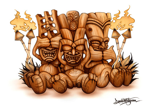 Tiki No Evil by Dennis Mathewson