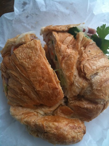 Ham and pate on croissant from Bale is divine