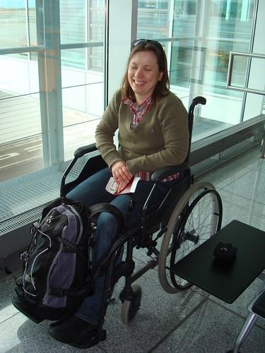 rullstolsbunden för tillfället