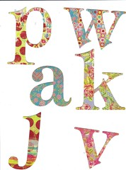 Free letter collage sheet