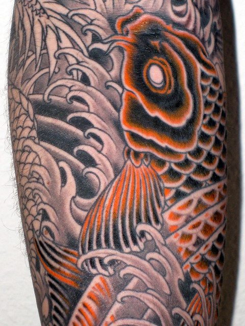Koi Carp Sleeve Shading and