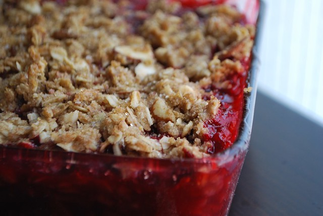 Rhubarb Raspberry Crisp | Flickr - Photo Sharing!