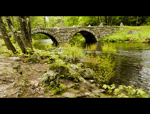 road longexposure trip bridge summer usa white mountain color green art dusty love nature wet water rain architecture clouds river landscape waterfall moss spring sand nikon rocks stream stones may bridges newengland newhampshire rocky nh dirt filter nikkor highwater slippery 1870mm gravel hillsborough stonearchbridge 2011 neutraldensity 3stop d7000 oldcarrbridge stonearchedbridges