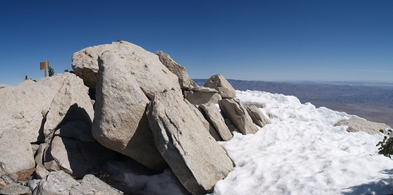 The summit of San Jacinto Peak. 10834 feet elevation.