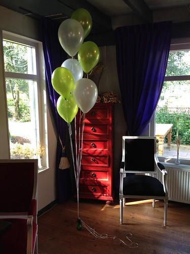 Tafeldecoratie 7ballonnen Elzentuin Oud Beijerland