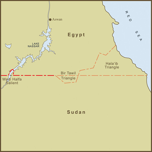 "A Map of the Bir Tawil ""Triangle"" and Related Territory Dispute Between Egypt and the Sudan"
