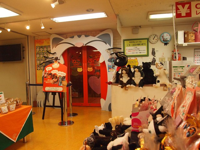Nekobukuro cat cafe entrance
