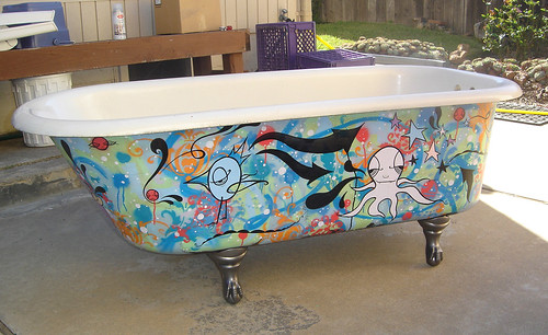 Obsessed with octopi jeff claassen blog - Painting clawfoot tub exterior paint ...