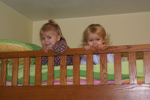 On the top bunk