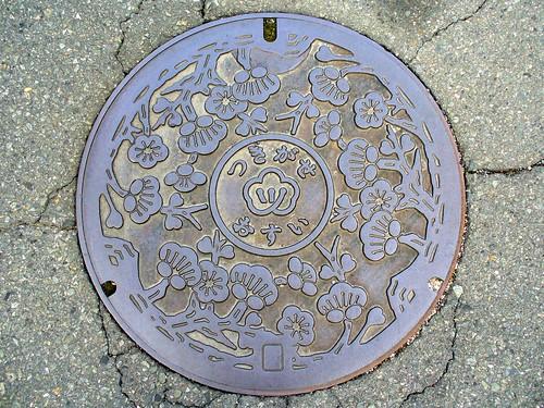 Tsukigase village Nara pref manhole cover(奈良県月ヶ瀬村のマンホール)