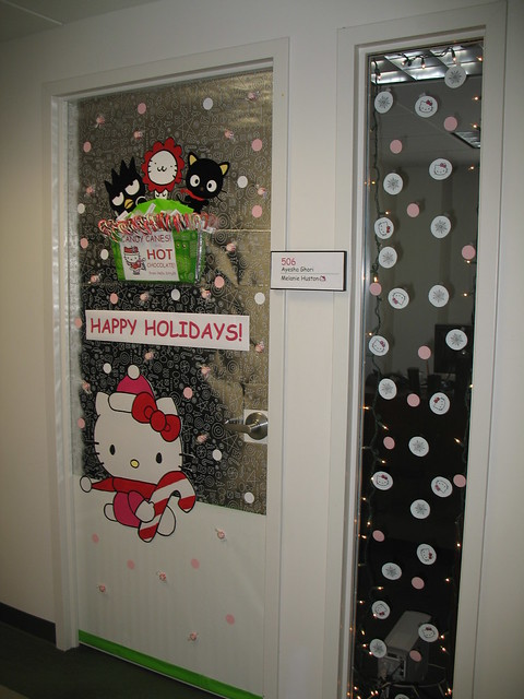 Office Christmas Door Decorating Contest http://www.flickr.com/photos/mjhmerc/4208704181/