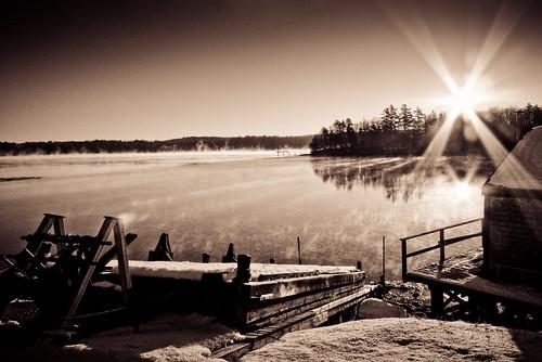 sunrise maine fishhouse crossriver leicadlux4