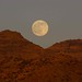 Full moon rising above the Galiuro Mountains; SE Arizona