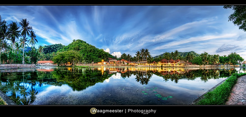 bali panorama lake reflections indonesia nikon watergarden hdr d300 candidasa lotuspond tokina116atx