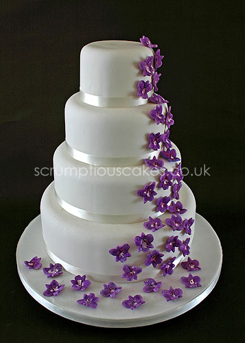 Wedding Cake Purple Orchid Cascade