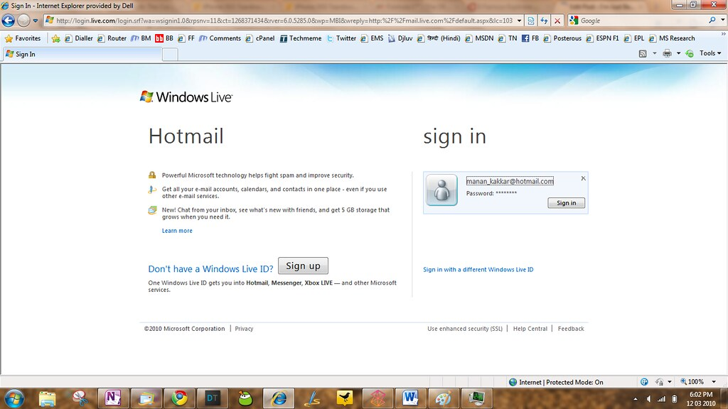 Hotmail com sign in login page | Hotmail Login 2018 - 2018 ...