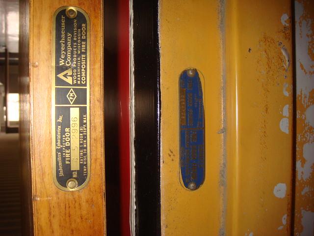 Marshfield Wood Doors : Asbestos fire door and rated frame flickr photo