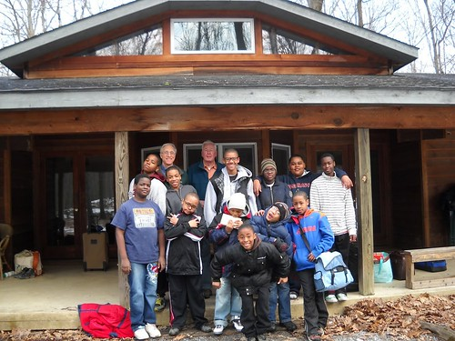 St. Ignatius group at WV cabin