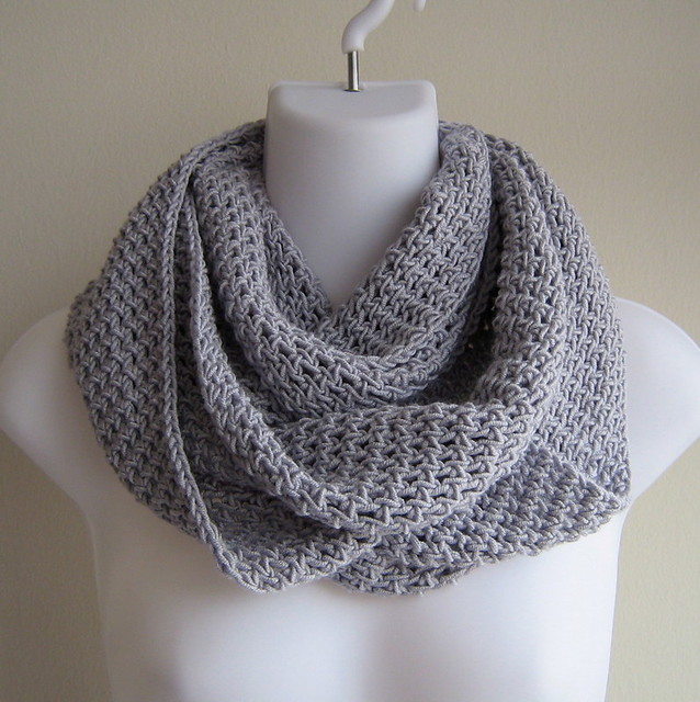 Free Crochet Pattern For Lightweight Scarf : TRUCIOLO- Lightweight Infinity Scarf Solid Grey Flickr ...