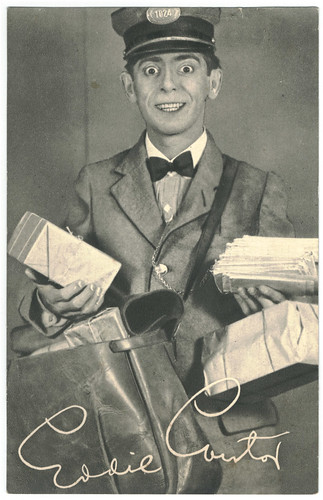 Eddie Cantor_Real Photogravure Portrait. Editorial Sign
