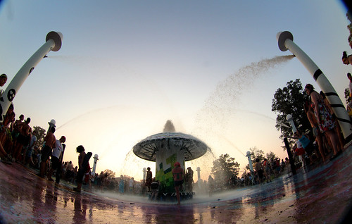 Fisheye Bonnaroo Fountain