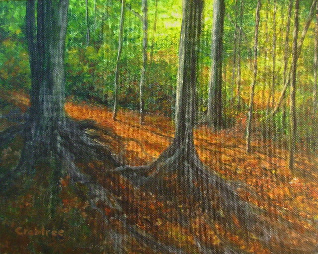 A forest in new england an acrylic painting flickr for Painting a forest in acrylics