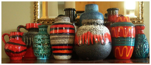 my west german pottery collection_2 (fat lava)