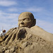 Gollum sand sculpture