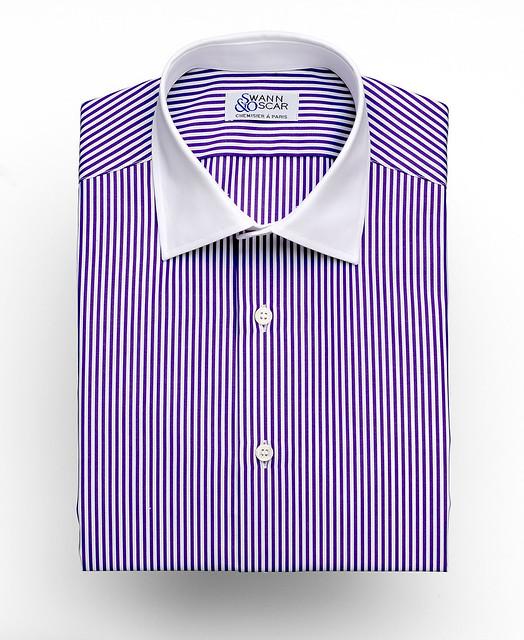 chemise sur mesure rayures violette flickr photo sharing. Black Bedroom Furniture Sets. Home Design Ideas